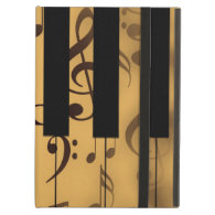 Piano Keys and Musical Notes iPad Cases