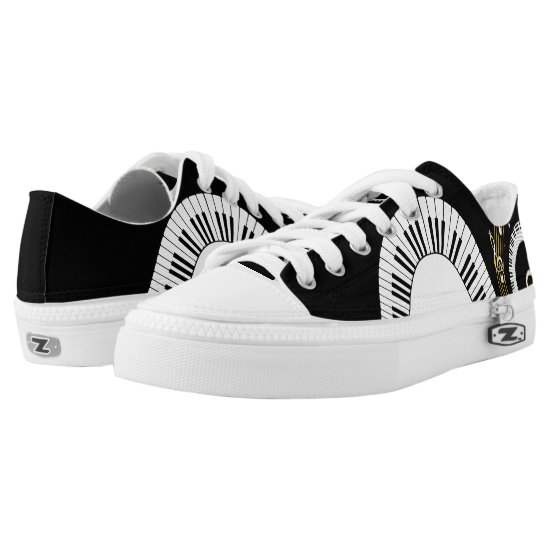 Piano Keys and  Musical Notes Low-Top Sneakers
