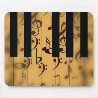 Piano Keys and Musical Notes Mouse Pads