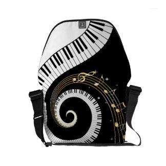 Piano Keys and  Musical Notes Small Messenger Bag