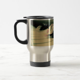 Piano Keys and Peony Petals Thermal Mug
