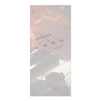 Piano Keys and Rose Rack Card