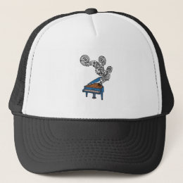 Piano Keys Art Gift - Piano Keyboard Keys Trucker Hat