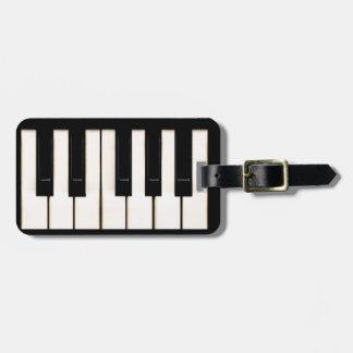 Piano Keys Bag Tag