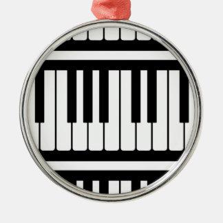 Piano Keys Black And White Pattern Christmas Ornaments