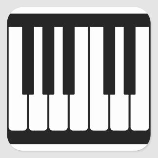 Piano Keys Black And White Pattern Square Sticker