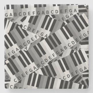 Piano Keys Black and WhitePpattern Stone Coaster