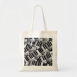 Piano Keys Black and WhitePpattern Tote Bag