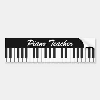 Piano Keys Car Bumper Sticker