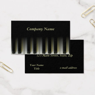 Piano Keys Business Card