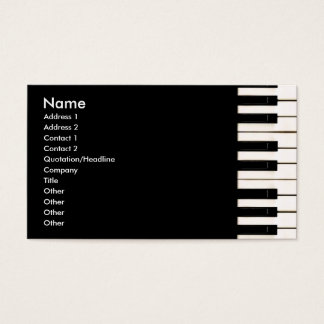 Piano Keys Business Card