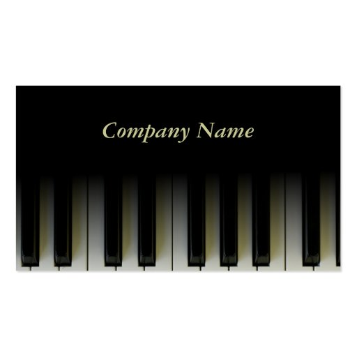 Piano Keys Business Card Templates