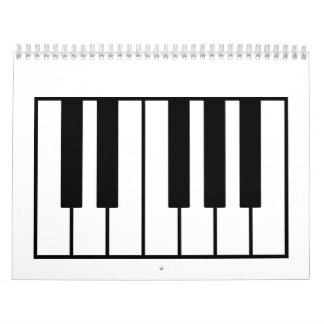 Piano keys calendar