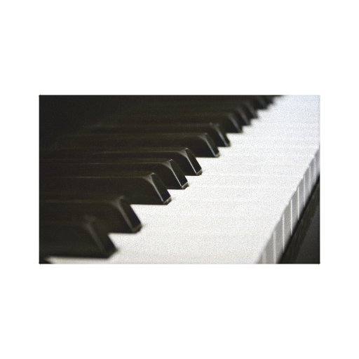 Piano Keys canvas wrapped print Gallery Wrap Canvas