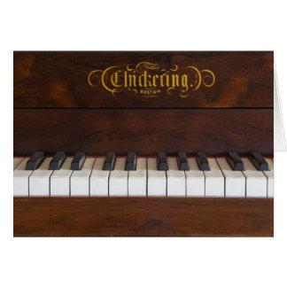 Piano Keys Card