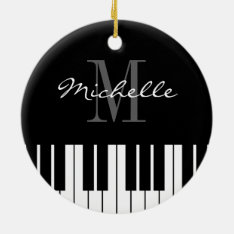 Piano Keys Christmas Tree Ornament For Pianist at Zazzle
