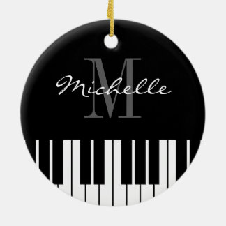 Piano keys Christmas tree ornament for pianist