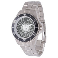 Piano Keys Circle of Fifths Trebele clef Wristwatches