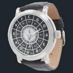 """Piano Keys Circle of Fifths Trebele clef Watch<br><div class=""""desc"""">Great gift for any pianist , learner of the piano or piano music lover this black and white piano key design features a circle of fifths and a inner circle with treble clef . The circle of fifths is a way of quickly finding a relative minor to any major scale,...</div>"""