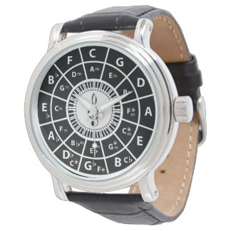 Piano Keys Circle of Fifths Trebele clef Watch