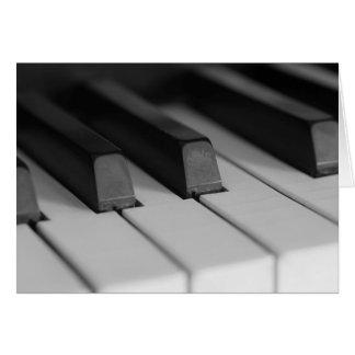 Piano Keys Closeup Card