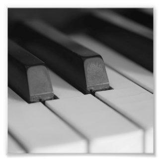 Piano Keys Closeup Photo Print