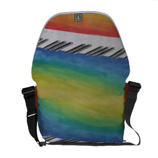 Piano Keys Courier Bags