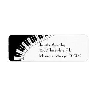 Piano Keys Custom Return Address Label