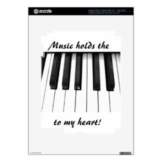 Piano keys decals for iPad 3