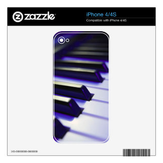 Piano Keys Ebony And Ivory Decals For The iPhone 4S