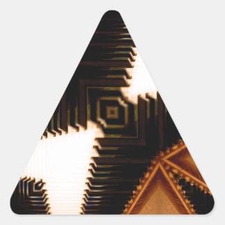 Piano Keys Geometric Triangle Sticker