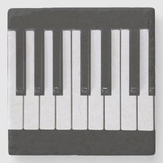 Piano Keys Stone Beverage Coaster