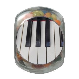 Piano Keys Glass Jar