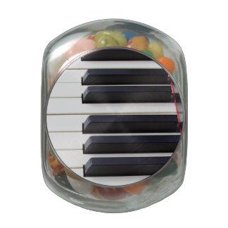 Piano Keys Glass Jars
