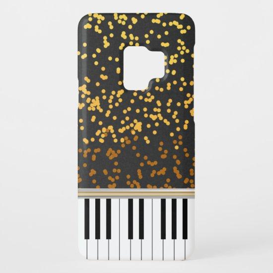 Piano Keys Gold Polka Dots Pattern Case-Mate Samsung Galaxy S9 Case