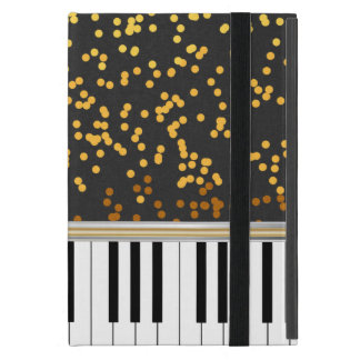 Piano Keys Gold Polka Dots Pattern Cover For iPad Mini