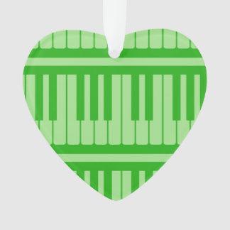 Piano Keys Green Pattern