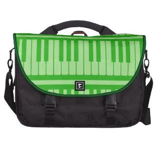Piano Keys Green Pattern Laptop Messenger Bag