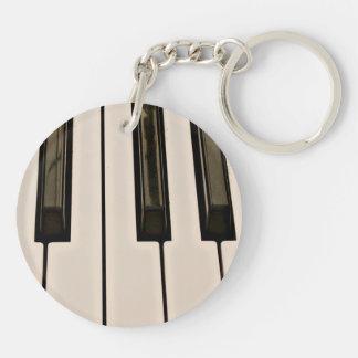 piano keys HDR vintage look electric keyboard Keychain