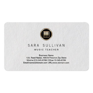 Piano Keys Icon Music Teacher Premium BusinessCard Double-Sided Standard Business Cards (Pack Of 100)