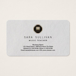 Piano Keys Icon Music Teacher Premium BusinessCard Business Card