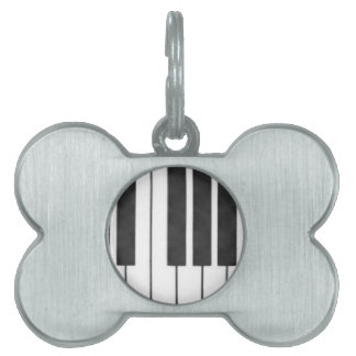 Piano Keys in the Key of Me! Pet ID Tags