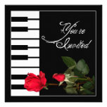 Piano Keys invitation/Red Roses Custom Invitations