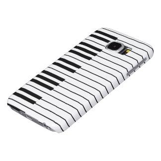 Piano Keys ivory white and black Samsung Galaxy S6 Case