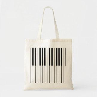 Piano Keys ivory white and black Tote Bag