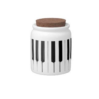 Piano Keys Jar Candy Dish