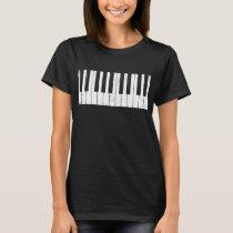 Piano Keys Keyboard  Music T-Shirt