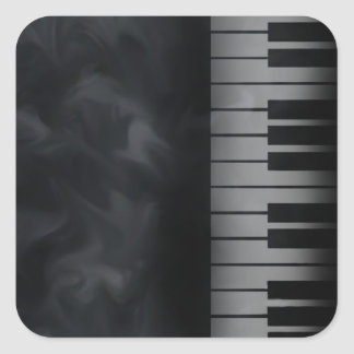 Piano Keys Keyboard Square Sticker