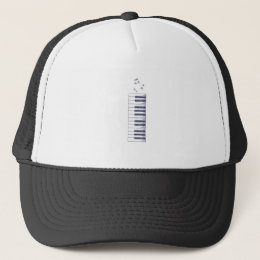 Piano Keys Keyboard Vintage Gifts Trucker Hat