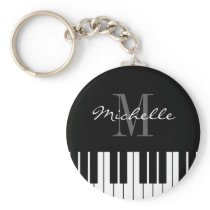 Piano keys keychain for kids, pianist or teacher